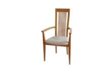 višina: 97 cm širina: 54 cm globina: 55 cm les: Bukev BELJENA tekstil: vzorčno blago